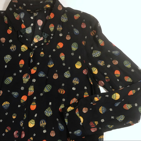 48108369fbe171 Zara Basics Hot Air Balloon Print Button Down. M_5a7121072ab8c5f13f4a2cbf